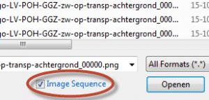 PhotoShop import opties